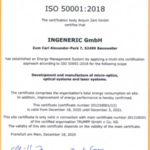 Certificate ISO 50001:2018